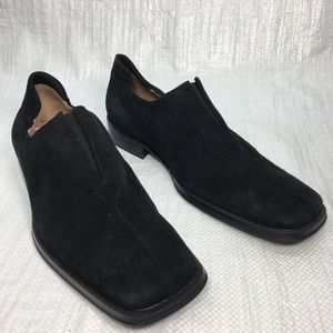 NWT Fratelli Rossetti Select Black Suede Loafer